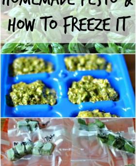 homemade pesto and how to freeze pesto