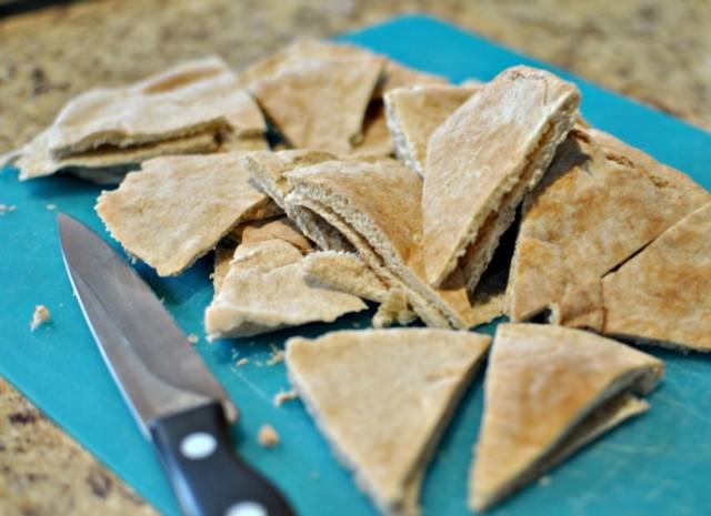 Homemade pita chips from Becky's Best Bites