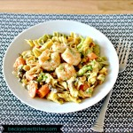 Light 'n Creamy Rottini with Shrimp and Veggies