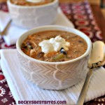 Skinny Slow Cooker Chicken Enchilada Soup