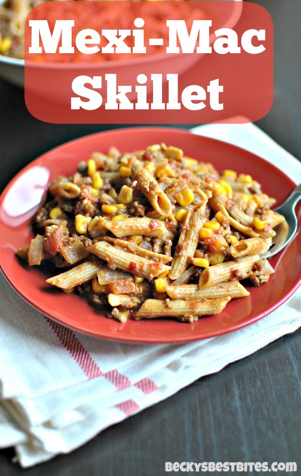 How to make the Mexi-Mac Skillet recipe_beckysbestbites