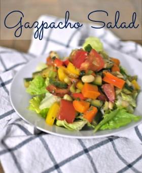 Summer Gazpacho Salad recipe by Becky's Best Bites