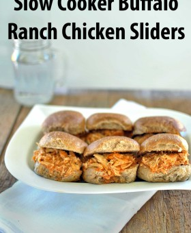 Slow Cooker Buffalo Ranch Chicken Sliders is a healthy, 4 ingredient recipe that takes no longer than 5 minutes to put together. Creamy chicken with a kick. beckysbestbites.com