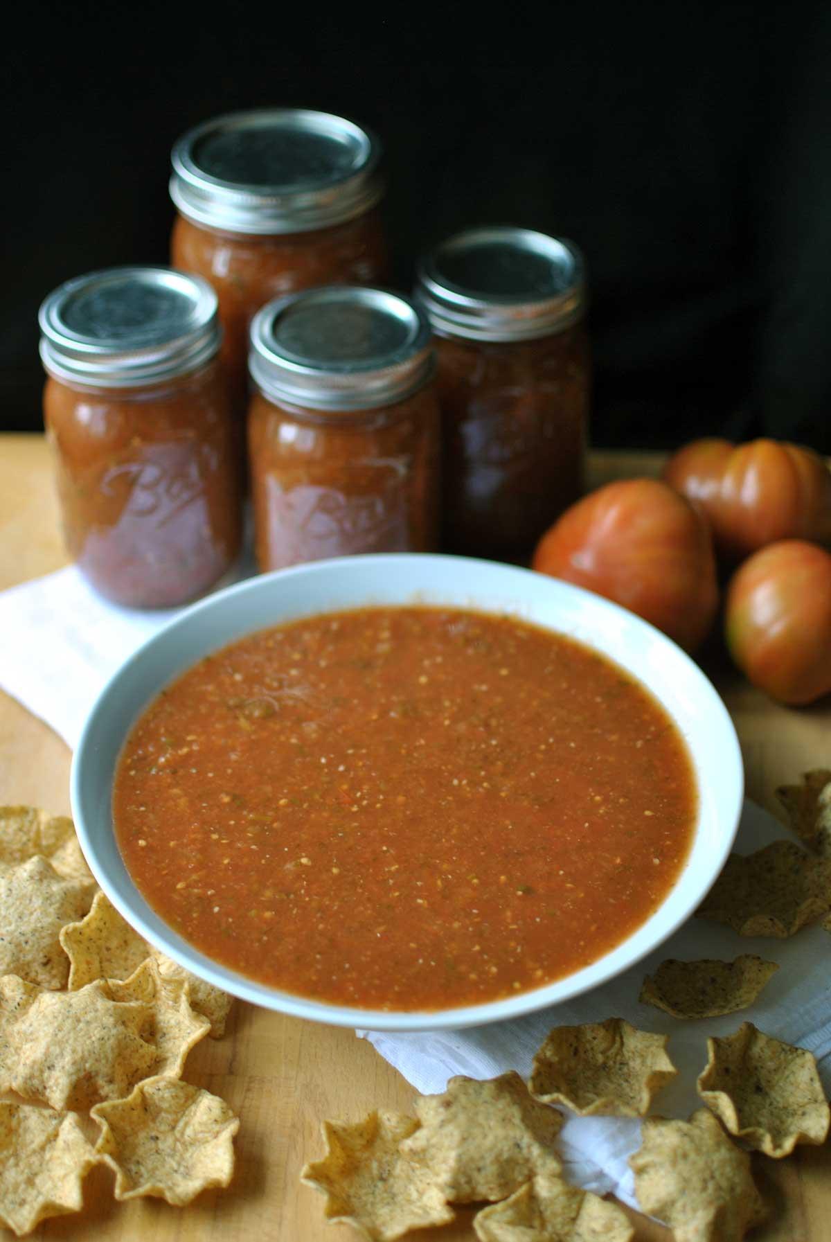 Homemade Roasted Tomato Salsa - Becky\'s Best Bites