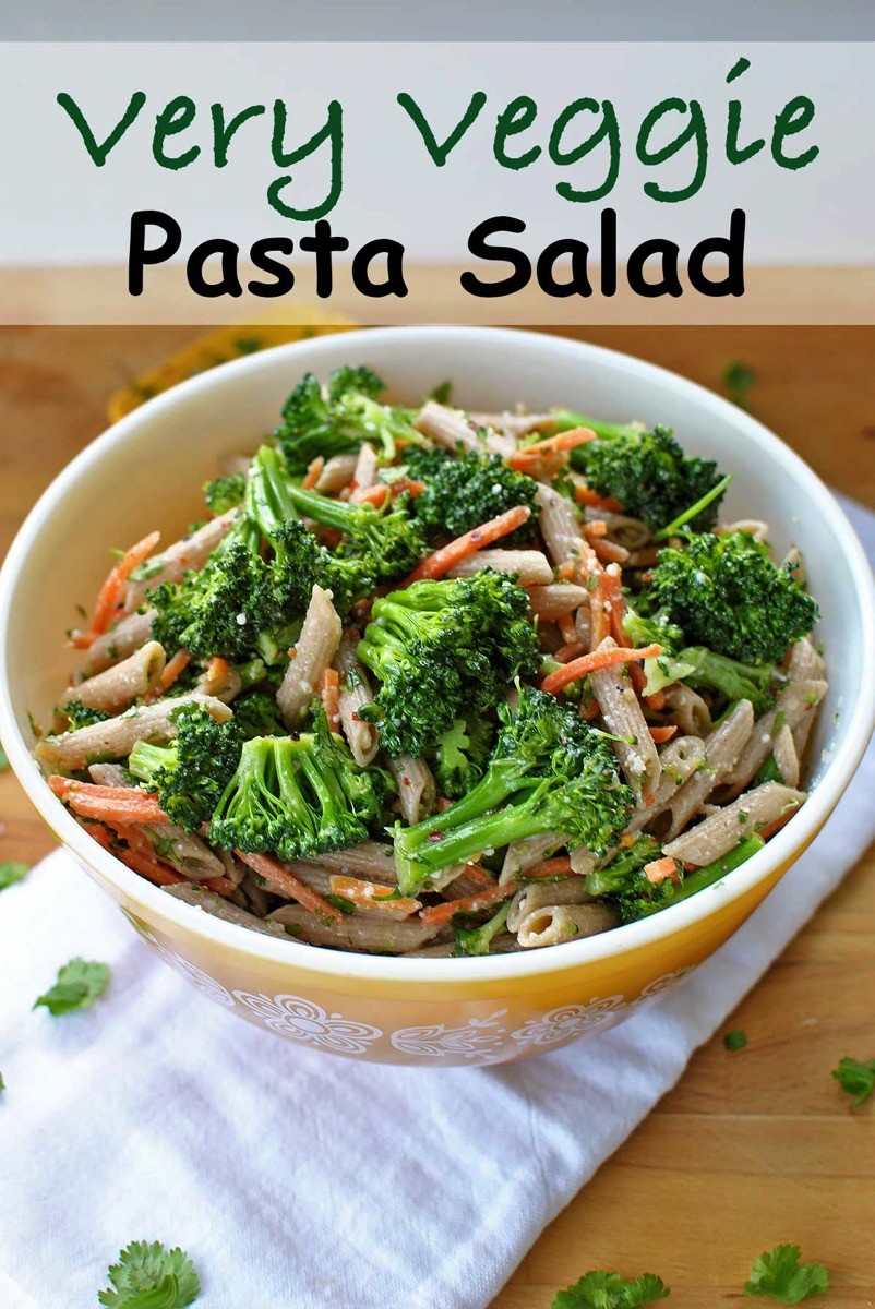 Very veggie pasta salad beckys best bites very veggie pasta salad is a quick simple and healthy side dish lunch or forumfinder Images