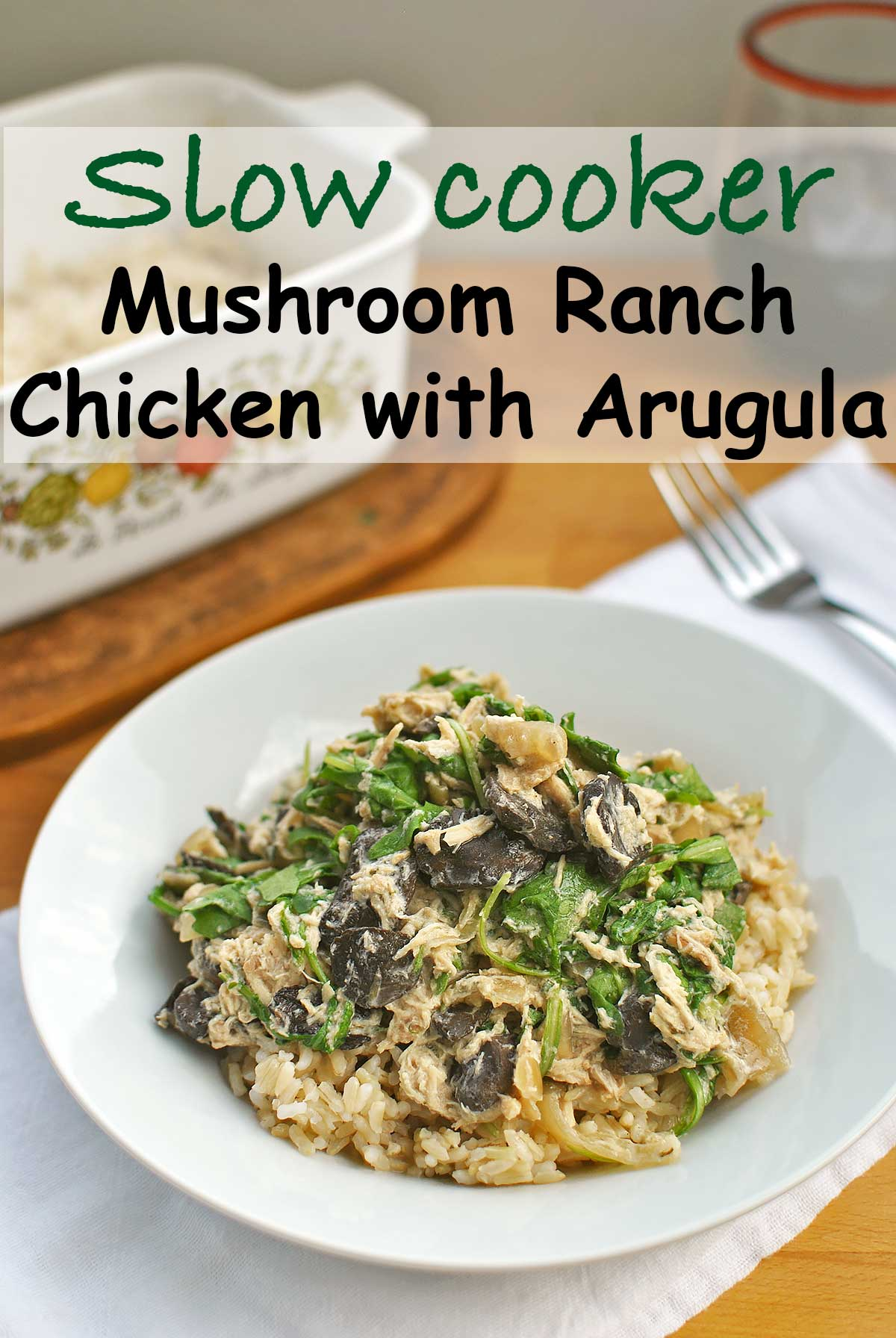 Chicken mushroom slow cooker healthy for Healthy slow cooker chicken recipes
