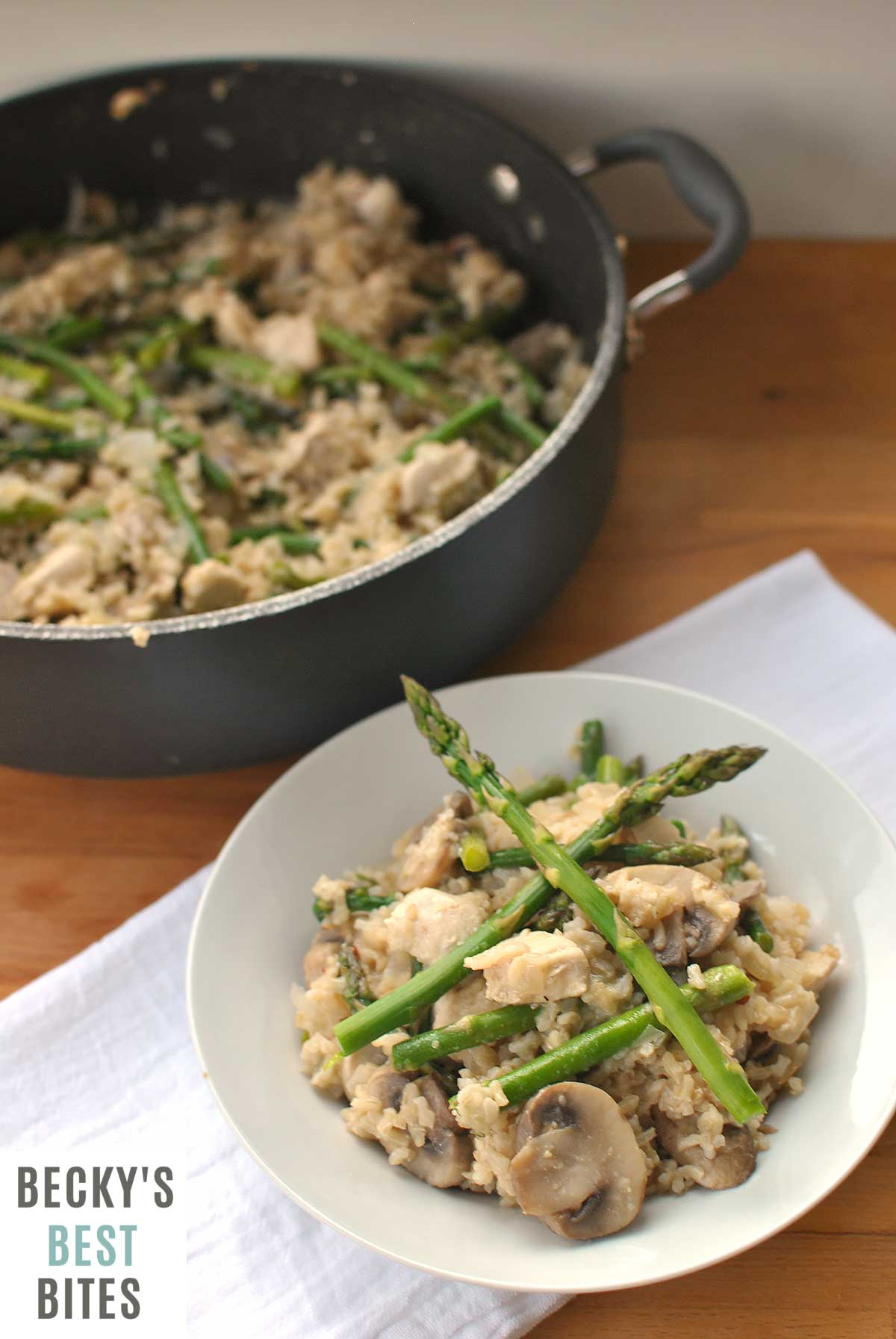 Chicken Mushroom Rice Skillet With Asparagus Is A One Pot Healthy Easy Quick