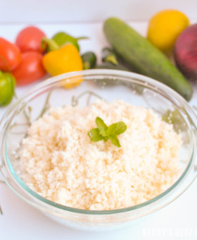 How To Make Cauliflower Rice or Couscous