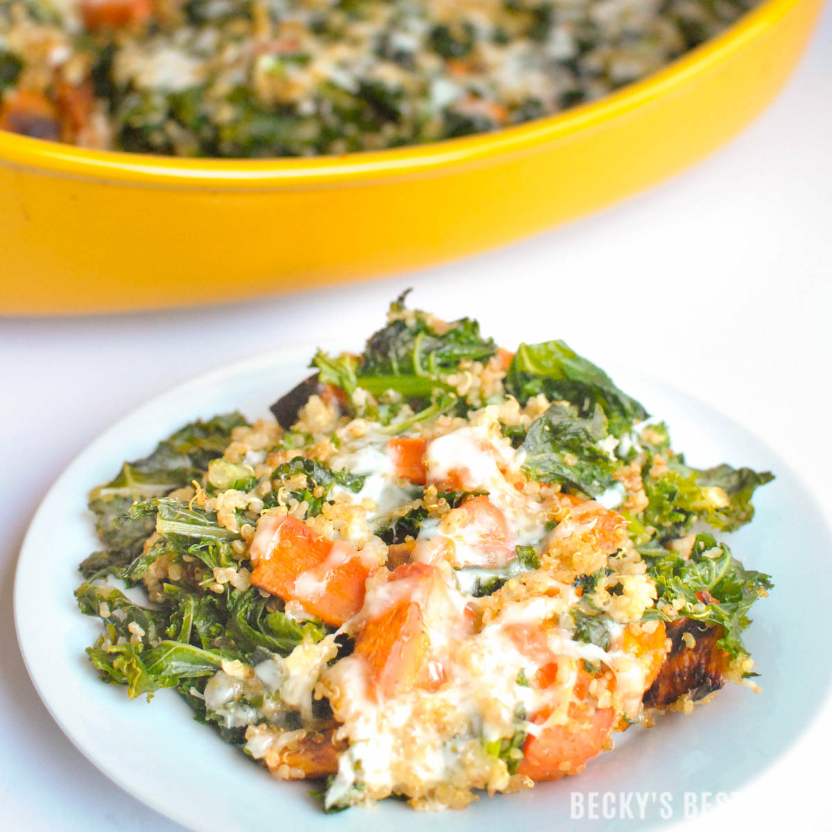 Kale roasted vegetable quinoa casserole kale roasted vegetable quinoa casserole is a healthy vegetarian comfort food recipe that forumfinder Gallery