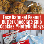 Easy Oatmeal Peanut Butter Chocolate Chip Cookies