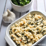 Creamy Kale Risotto with Parmesan