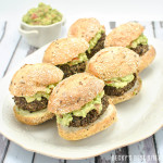 Red Quinoa and Black Bean Sliders with Easy Guacamole Spread