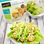 Gardein Crabless Cakes Lettuce Wraps with Creamy Avocado Sauce