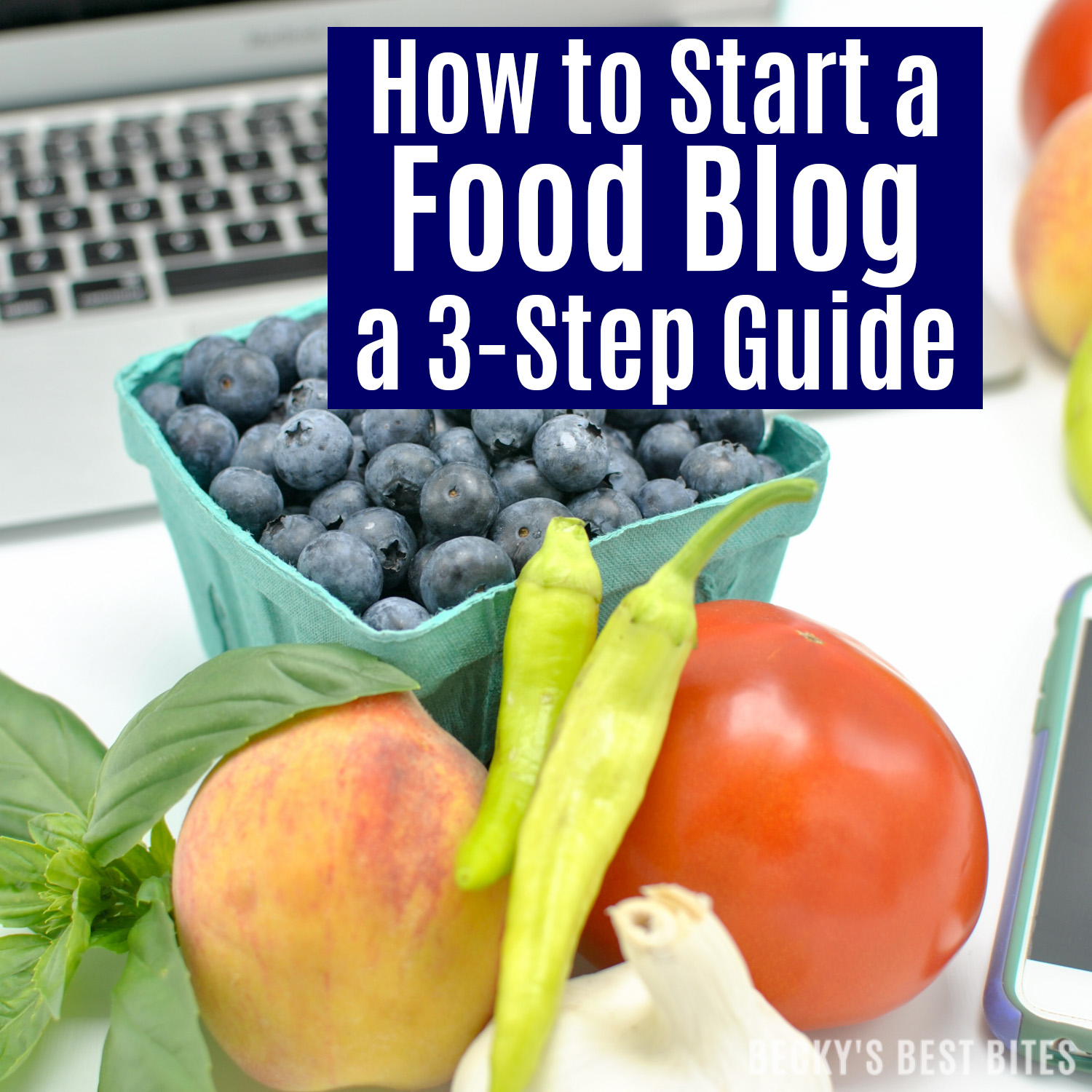 How to Start a Food Blog! A quick and easy 3-Step Guide to help get your very own website up and running in 15 minutes or less! Start blogging today! | beckysbestbites.com