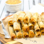 Mini Chicken Cigars with Sweet and Sour Pineapple Dipping Sauce