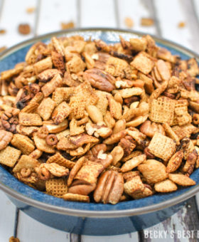 Slow Cooker Sweet Spicy Chex Mix (Gluten Free)