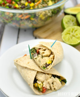 On The Go Loaded Tuna Quinoa Wraps is an healthy idea for quick and easy 30 Minute Back-to-School Meals! They are loaded with Bumble Bee® Solid White Albacore in Water, heart-healthy avocado and lots of veggies all wrapped up in a whole grain tortilla. Perfect for quick dinners, dinners on the run or pack up the leftovers for great back-to-school lunches! @BumbleBeeFoods #OnlyAlbacore #CG #ad | beckysbestbites.com