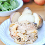 Slow Cooker Apple, Roasted Garlic & Herb Pork Loin