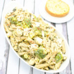 Cheesy Chicken, Spinach and Artichoke Pasta with Broccoli