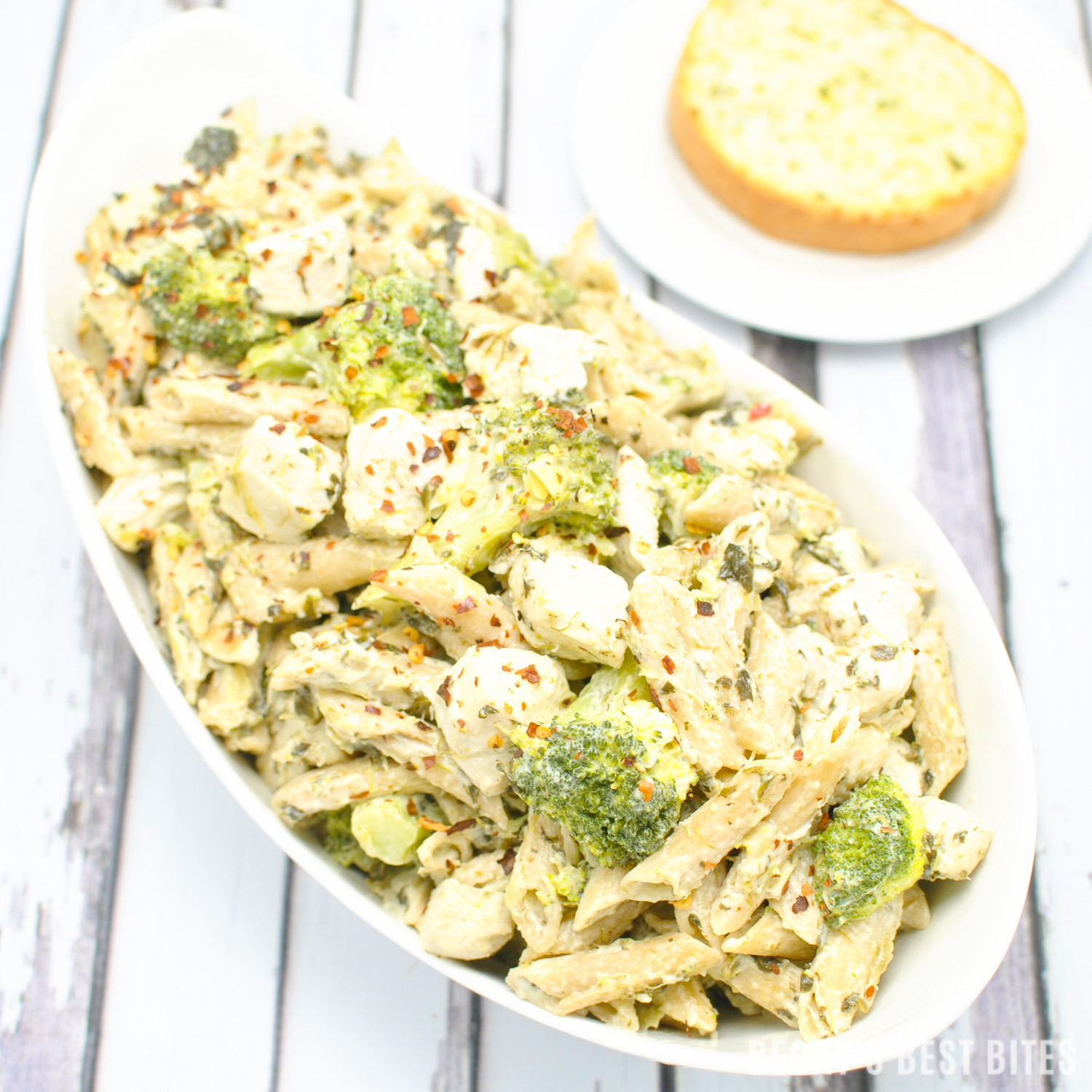 Cheesy Chicken Spinach And Artichoke Pasta With Broccoli