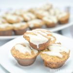 Mini Carrot Cake Muffins with Cream Cheese Drizzle