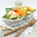 Albacore Tuna Kale Salad with a Simple Lemon Dijon Vinaigrette