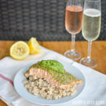 Basil and Dill Pesto Crusted Baked Salmon