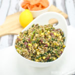Spinach, Corn, Bean Fiesta Quinoa Bowl