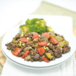 Bell Pepper Mushroom and Ground Beef Skillet