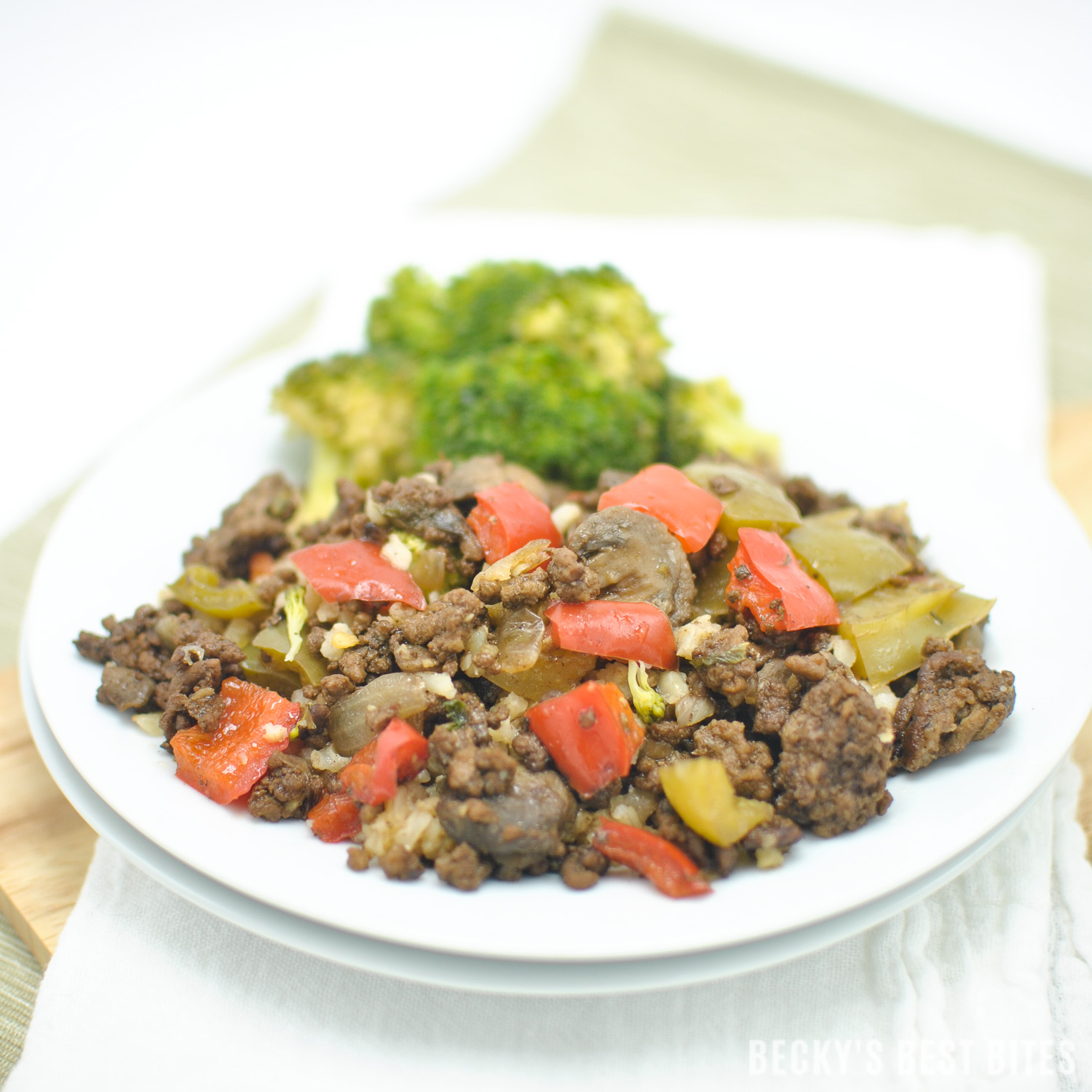 Bell Pepper Mushroom And Ground Beef Skillet Recipe -Becky