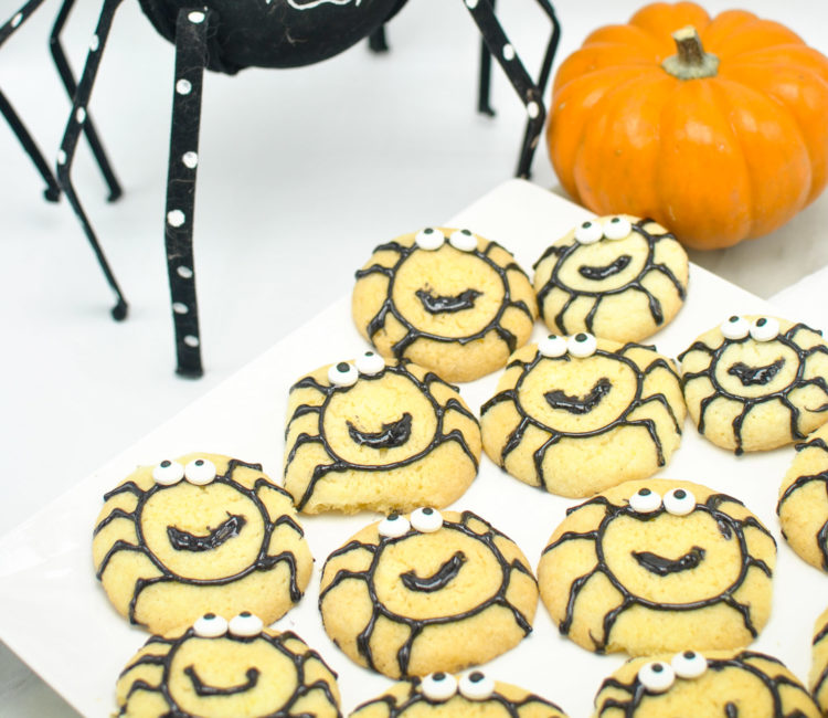 Easy Halloween Spider Cookies