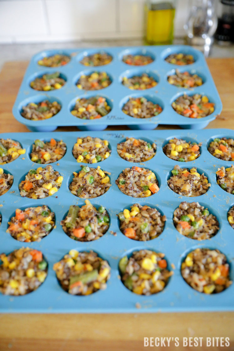 Customizable Healthy Baby Bites is an easy, healthy recipe able to be modified to suit a particular infant, toddler or mom's preferences. The recipe is vegetarian as written but protein and veggie packed!| beckysbestbites.com