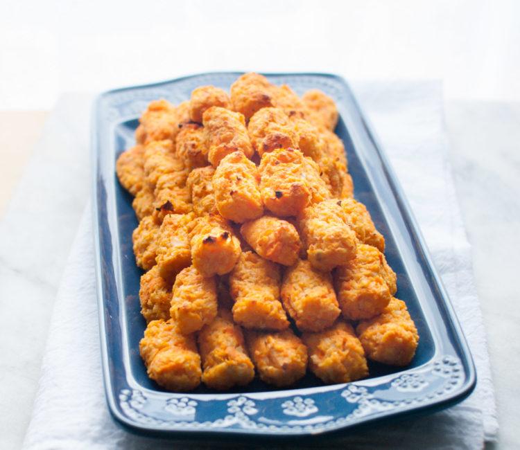 Sweet Potato Cauliflower Veggie Tots