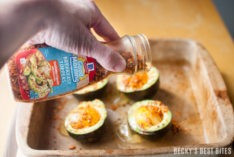 Southwest Chipotle Baked Avocado Eggs is a quick and easy breakfast recipe for the whole family. Perfect for a healthy weekday breakfast and worthy enough for weekend brunches too! #goodmorningbreakfast #ad @mccormickspices | beckysbestbites.com