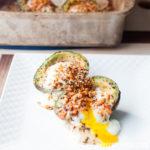 Southwest Chipotle Baked Avocado Eggs